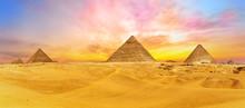 Bright Colours Of Giza Desert,...