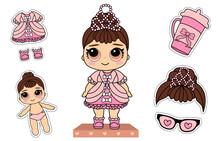 Cute Vector Little Princess Do...