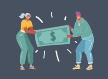 People Fighting Over Money