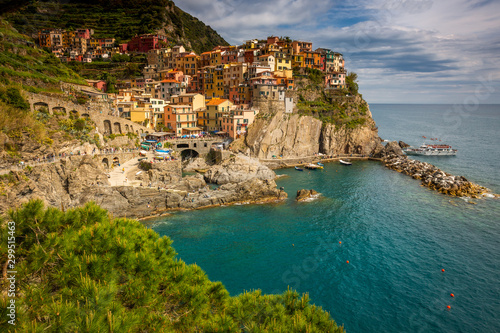 Fototapety, obrazy: Cinque Terre liguria coast city in rocks Manarola