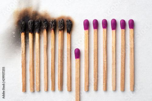 Photo Have a match to give up and avoid other being burned