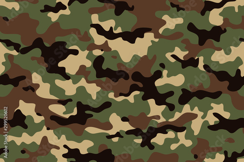 Camouflage seamless pattern Wallpaper Mural