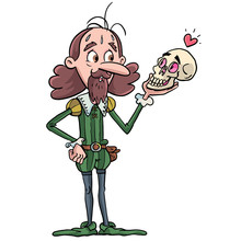 Shakespeare Actor Looks At The Skull Looking At Him And I Smile