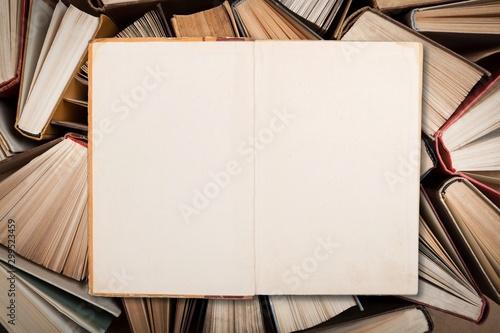 Valokuvatapetti Book pile literature hardback leisure fiction read