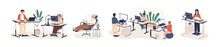 Contemporary Workspace Flat Ve...