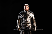 Handsome Knight In Armor Holdi...