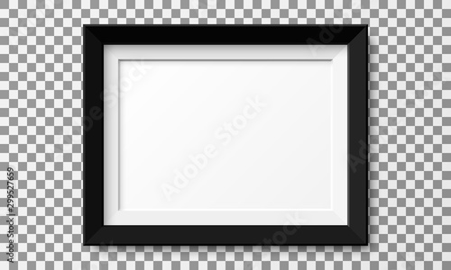 Obraz Realistic horizontal picture frame isolated on transparent background. - fototapety do salonu
