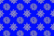 canvas print picture - Quilling snowflakes background