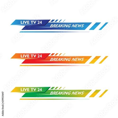 Fotografía  Banner TV vector icon illustration