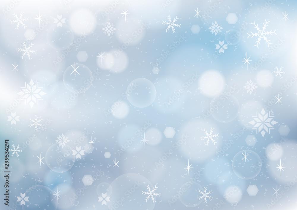 Fototapety, obrazy: 冬の風景 背景イラスト