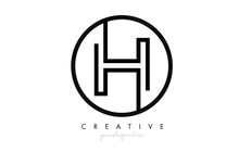 H Letter Icon Logo Design With...