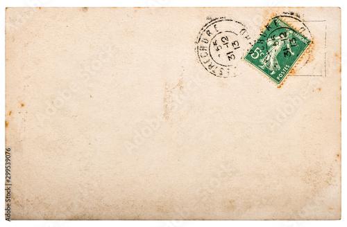 Fotografie, Obraz Used paper Vintage handwritten postcard letter edges