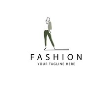 Woman Fashion Logo Template