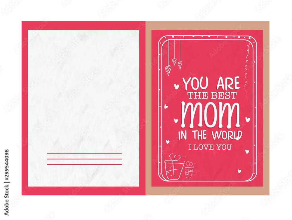 Fototapeta Greeting Card for Happy Mother's Day celebration.