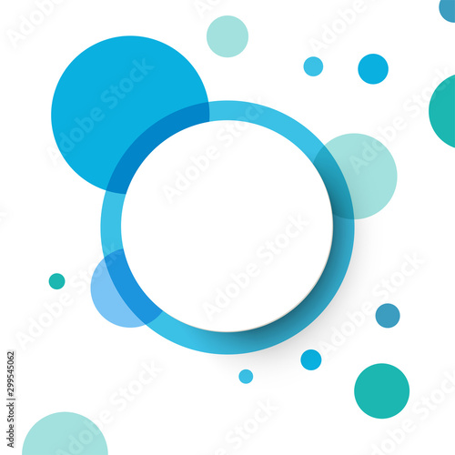 Fototapeta Abstract background with circles.