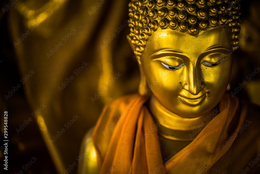 Fototapety, obrazy: The lord Buddha statue in the Buddhist temple, southeast Asia.