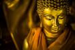 Leinwanddruck Bild - The lord Buddha statue in the Buddhist temple, southeast Asia.