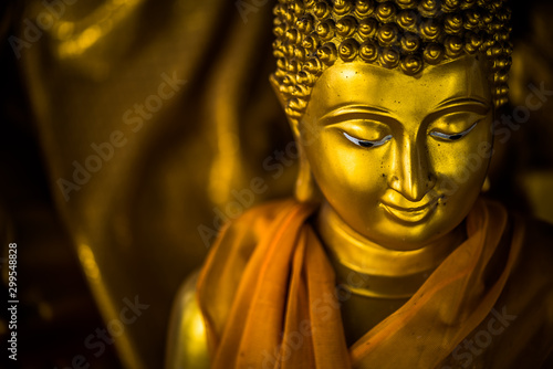 The lord Buddha statue in the Buddhist temple, southeast Asia. Fototapete