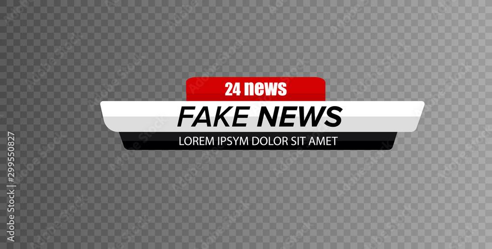 Fototapety, obrazy: Tv news bar