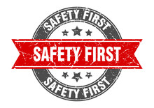 Safety First Round Stamp With ...