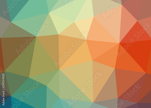 Colorful theme abstract background triangles trianglify colorful beautiful simpl Fototapet