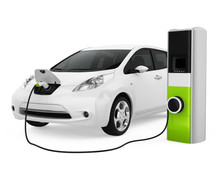 Electric Car In Charging Stati...