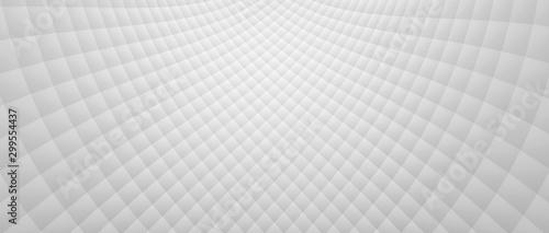 Obraz na plátně Wide White Diverging Tiled Pattern (3D Illustration)