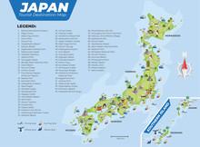 Japan Tourist Destination Map With Details