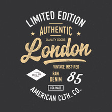 London Typography. Vintage Vec...
