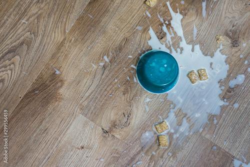 Stampa su Tela Kids cereal spilled on floor