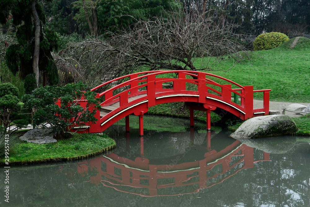 Fototapety, obrazy: Pierre Baudis Japanese Garden in Toulouse, France.