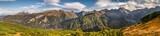 Fototapeta Landscape - Beautiful autumn panorama landscape with a view of the Tatra Mountains
