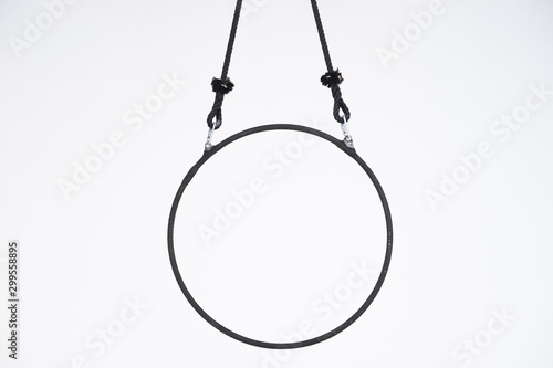 Canvastavla Black aerial hoop isolated on white background
