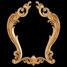 Golden Frame Ornament. Pattern...