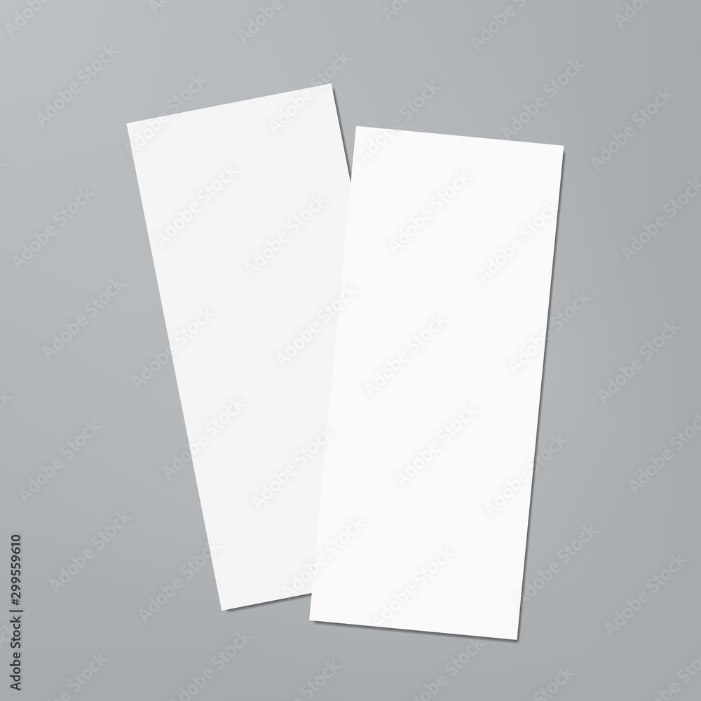 Fototapety, obrazy: Two Empty White Vertical Tickets Or Price List