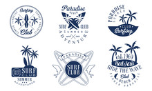 Set Of Logos For The Surf Club...