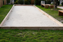 Empty Terrain For Bowling Petanque French Playing Active Sport