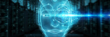 Robotic Man Cyborg Face Repres...
