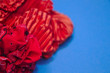 canvas print picture - Closeup of a red scrunchie