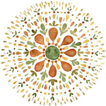 Autumn Mandala Illustration In Earth Tones