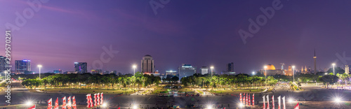 Jakarta cityscape at dusk