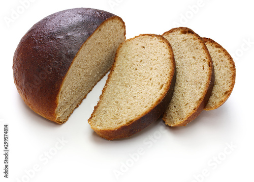 Tuinposter Brood joululimppu, finnish christmas bread isolated on white background