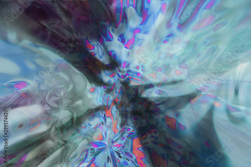 Dreamy and surreal. Abstract dreamlike generative art texture.