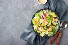Shrimp Salad With Flax Seeds I...