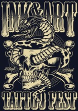 Ink And Art Tattoo Fest Poster