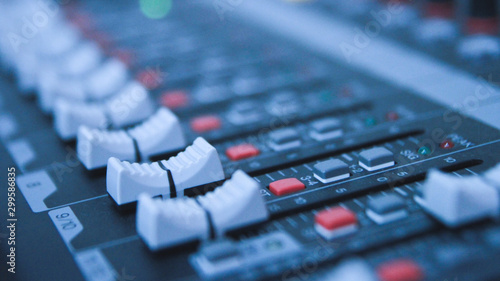 audio mixer button - 299586835