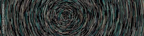 Colorful Universe Circular Distribution Computational Generative Art background Canvas Print