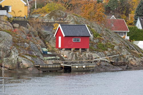 Poster Scandinavie Norway Red Shed