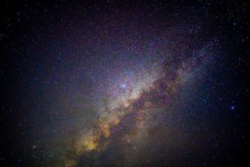 Milky way galaxy beauty in dark night