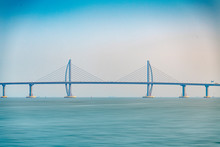 The Seaside View Of The Zhuhai Section Of The Hong Kong-Zhuhai-Macao Bridge In China